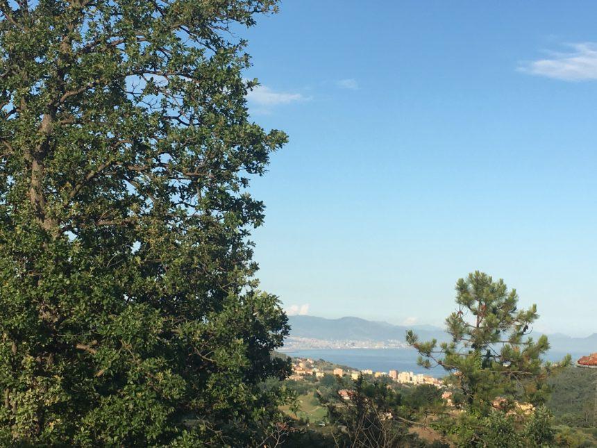 Villetta a schiera in vendita a Cogoleto. Vista dalla camera.