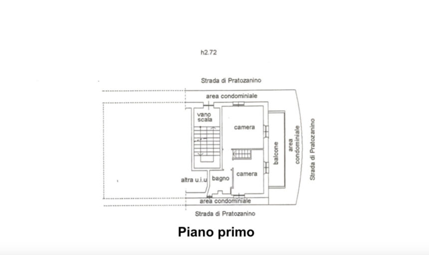 Appartamento su due piani a Cogoleto - Planimetria piano primo