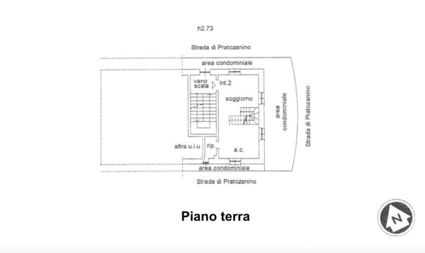 Appartamento su due piani a Cogoleto - Planimetria piano terra