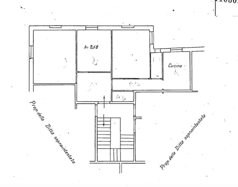 Appartamento con due camere a Genova in Via Carlo Rolando - Planimetria stato attuale